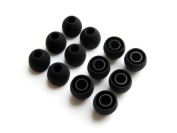 Black Replacement Eartips; Comfort Ear Tips Earbuds Eargels for Sennheiser CX300, CX400, CX55