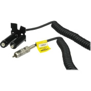 Quantum MKZ7 QB1/QB1+ Battery to Speedlight Coiled Power Cable, 1.8m Stretched/0.6m Coiled Length