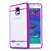 JOTO Galaxy Note 4 Case - Slim Fit Hybrid Bumper Cover Case (Flexible TPU + Hard PC) Exclusive for Samsung Galaxy Note 4 Smartphone, SM-N910