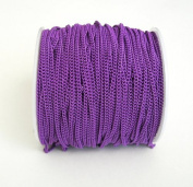 BeadsTreasure Dark Orchid Coloured Chain Twist Curbe -3m