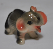 Cute Baby Elephant Ceramic Figurine for Miniature Garden Ornament Deco, Miniature Display and Kid Learning Tool