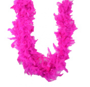 Touch of Nature 1-Piece Feather Turkey Flat Chandelle Boa for Arts and Crafts, 2-Yard, Magenta
