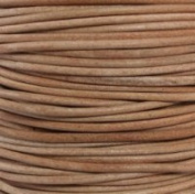"#01 Natural Round Leather Cord 1mm (1/32"") x 10 m"