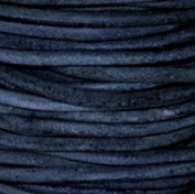 "#406 Natural Blue Round Leather Cord 1.5mm (1/16"") x 10 m"