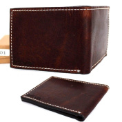 Mens Money Clip Genuine Natural Original Leather Wallet Coin Style Purse Design New.