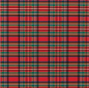 Tartan Plaid Christmas Red and Green Gift Wrap Roll 60cm X 4.9m