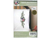 Tobin Stamped Embroidery kit Pillowcases - Butterfly Heart