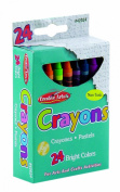 Charles Leonard Crayons - Assorted Colours - 24/Box, 42024