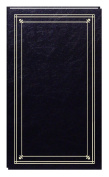 Pioneer Photo Albums 204-Pocket Post Bound Slim Line Leatherette Cover Photo Album for 10cm by 15cm Prints, Black