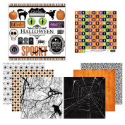 Scrapbook Customs Themed Paper and Stickers Scrapbook Kit, Halloween