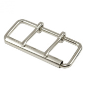 Springfield Leather Company Nickel Plate 10cm Two Prong Roller Buckle