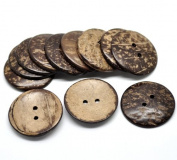 PEPPERLONELY Brand, 20PC Brown Coconut Shell 2 Holes Sewing Buttons Scrapbooking 44mm