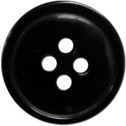 Slimline Buttons Series 1-Black 4-Hole 1.6cm 4/Card