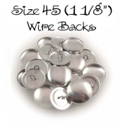 Cover Buttons - 2.9cm (SIZE 45) - WIRE BACKS - QTY 100