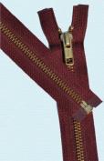 60cm Medium Weight Jacket Zipper YKK #5 Brass ~ Separating ~ 527 Burgundy Wine