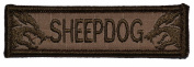 Sheepdog 2.5cm x 9.5cm Military Patch / Morale Patch - Coyote Brown