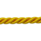 Expo International 20-Yard Charlotte Twisted Cord Trim Embellishment, 0.5cm , Yellow Gold