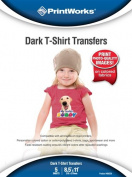 Printworks Dark T-Shirt Transfers, Inkjet, 22cm x 28cm , 5 Sheets