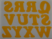 3.2cm Iron-On Letters in Yellow