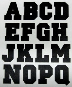 5.1cm Iron-On Jersey Letters in Black Closed Style