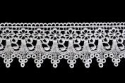 Altotux 7.6cm White Venice Lace Ribbon Trim By Yard