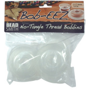 Beadsmith BOB3-R Bob-Eez No Tangle Thread Bobbins, 2.5-Inches, Pack of 8