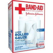 Band-Aid Brand Of First Aid Products Rolled Gauze, 10cm By 2.1 Yards, 5 Count Value Pack