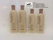 From Madison Supply, DCinque Reparative Shampoo, Conditioner, Neutralizer, Reconstructor Set. 4 Bottle Package