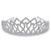 Bling Jewellery Royal Crown Rhinestone Princess Silver Tiara
