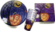 Halloween Party Paper Plates, Napkins and Cups, Table Set for 14-18