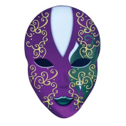Large Oval Mardi Gras Mask Party Prop