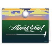 Golf Thank You Note Card - 18 Boxed Cards & Envelopes
