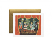 Nutcracker Scene Christmas Holiday Card Set by Rifle Paper Co. (GCX032B) -- Set of 8 Cards and Envelopes