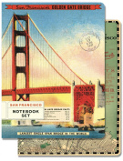 Cavallini Papers 96-Page 10cm by 14cm Notebook Set, San Francisco, Set of 2