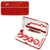 Metallic Contact Lens Travel Kit with 2 Lens Case and 1 Large Bottle Lens Kit