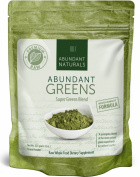 Raw ORGANIC Green Superfood Powder - Premium Super Greens Supplement - 38 Servings - Boost Energy & Vitality - Pleasant & Refreshing - Abundant Vitamins, Minerals, Antioxidants, Pre & Probiotics -