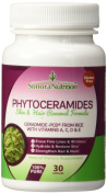 Phytoceramides with Ceramide-PCD from Rice and Vitamins A, C, D, & E - Skin & Hair Renewal Formula - 30 Capsules - 40 mg/Serving - Gluten Free, All Natural, Plant-Derived Anti-Ageing and Skin Hydration Supplement by Sonora Nutrition