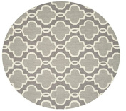 Loloi Rugs FRACFC-29GY00300R Francesca Round Rugs, 0.9m by 0.9m, Grey
