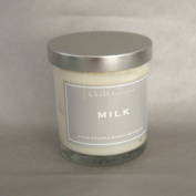 k hall designs Jar Candle, Milk