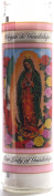 Our Lady of Guadalupe Glass Prayer Candles, 20cm