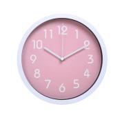 HITO™ Modern Colourful Silent Non-ticking Wall Clock- 25cm