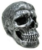 Creepy Silvered Skull Ashtray Trinket / Stash Box