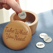 Inspirational Take What You Need Wooden Box and Coins