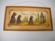 Natures Calling Country Bathroom Sign Outhouse Lodge Bath Decor Moon Stars Bears