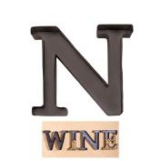 """Personalised Letter """"N"""" Metal Wall Wine Cork Holder - Monogram Wall Art"""