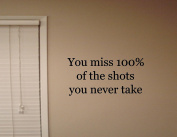 YOU MISS 100% OF THE SHOTS YOU NEVER TAKE Vinyl wall quotes stickers sayings ...