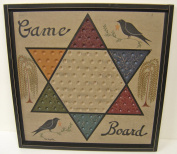 Game Board Chinese Checkers Sign Primitive Country Rustic Gameboard