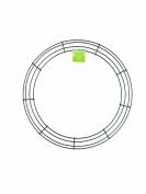 FloraCraft® SimpleStyle 46cm Wire Wreath, Green, 13 Gauge
