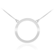 925 Sterling Silver Circle of Life Pendant Karma Necklace