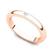 18k Rose Gold Bezel set Diamond Wedding Band Ring